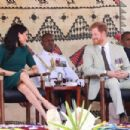 Meghan Markle and Prince Harry at Nadi Airport in Nadi