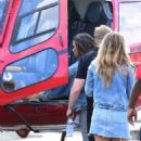 Demi Lovato boarding an helicopter in New York City - 454 x 682