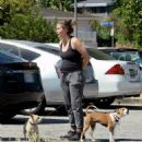 Alicia Silverstone – Walk her dogs out for a hike in Los Angeles