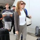 'The Apparition' star Ashley Greene lands on a flight at LAX Airport on August 22, 2014 in Los Angeles, California
