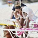 Jodie Marsh Beach Candids In Barbados