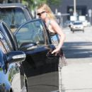 Kate Bosworth and her boyfriend Michael Polish showed each other some affection after leaving a spa in West Hollywood, California on June 20, 2012
