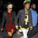 Amber Rose and Wiz Khalifa at the Jay Z Concert at the Staples Center in Los Angeles, California - December 9, 2013 - 454 x 681