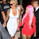 Blac Chyna, Amber Rose, and James Harden at 1 Oak Nightclub in West Hollywood - September 15, 2015 - 454 x 681