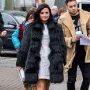 Demi Lovato in Black Fur Coat out in New York City