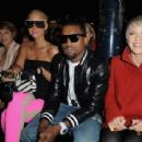 Amber Rose and Kayne West attend the Stella McCartney Ready-to-Wear A/W 2009 fashion show during Paris Fashion Week at Carreau du Temple in Paris, France -  March 9, 2009 - 454 x 310