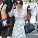 Candice Brown and fiance Liam Macaulay – Arriving at Wimbledon Tennis Tournament in London - 454 x 793