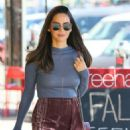 Olivia Munn in Mini Skirt – Out and about in LA