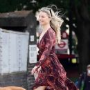 Emma Rigby walked the dog out in Notting Hill