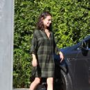 Mila Kunis in Plaid Dress – Out in Los Angeles