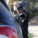 Nicole Richie Hiking In Hollywood Hills