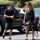 Elisabetta Canalis and her hubby are spotted out running errands in West Hollywood, California on August 29, 2015 - 454 x 482
