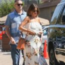 Sofia Vergara in Long Summer Dress – Out in Malibu - 454 x 681
