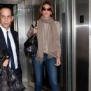Cindy Crawford is seen at LAX airport