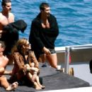 Eva Mendes And George Gargurevich On Dolce & Gabbana Yacht In Italy - 454 x 297