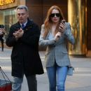 Lindsay Lohan Out in New York City April 16, 2016