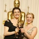Rachel Weisz and Reese Witherspoon At The 78th Annual Academy Awards (2006) - Press Room - 236 x 354