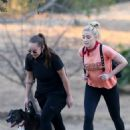 Amber Heard – Out for a hike with a friend
