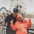 Blac Chyna, Rob Kardashian, and Amber Rose at Disneyland in Anaheim, California - October 23, 2016