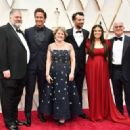 Director Dean DeBlois, Gerard Butler, producer Bonnie Arnold, Jay Baruchel, America Ferrera, and producer Bradford Lewis At The 92nd Annual Academy Awards - Arrivals