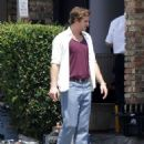 Liam Hemsworth films a scene on the set of 'Empire State' on June 6 in New Orleans, Louisiana