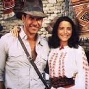 Harrison Ford and Karen Allen