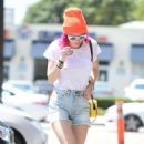Bella Thorne in Denim Shorts out in Los Angeles - 454 x 788