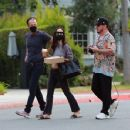 Cara Santana and boyfriend Shannon Leto gather with friends at a Beverly Hills Park