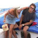 Nina Agdal in Swimsuit on a boat in Capri