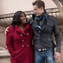 Amber Riley and Chord Overstreet