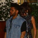 Selena Gomez and The Weeknd Leaving the Sunset Tower hotel in LA - 454 x 577