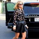 Paris Hilton in Mini Skirt – Heads to a Beauty Salon in Beverly Hills - 454 x 681