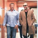 Sylvester Stallone and Jason Statham Grab Lunch in Beverly Hills - 454 x 456