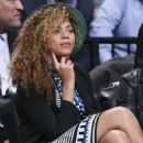 Beyonce Knowles Brooklyn Nets Basketball Game In Ny