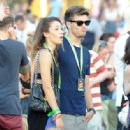 Liam Payne and girlfriend Danielle were spotted at V Festival yesterday, August 18, in Hylands Park