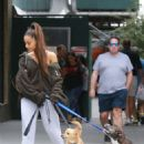 Ariana Grande – Walking her dog in New York