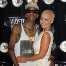 Amber Rose and Wiz Khalifa Attend the 28th Annual MTV Video Music Awards at the Nokia Theatre L.A. Live in Los Angeles, California -  August 28, 2011 - 443 x 594
