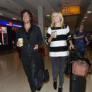 Malin Akerman and fiance Jack Donnelly – Arriving at Aberdeen Airport - 454 x 556