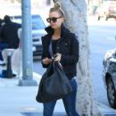 Kaley Cuoco heads to the salon to start the New Year off with a new do on December 27, 2013 in Los Angeles