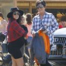 Kris Jenner with her kids and grandchildren at Underwood Family Farms in Moorpark, California on October 18, 2014