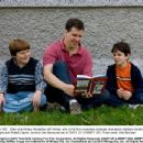 Diary of a Wimpy Kid author Jeff Kinney, who is the film's executive producer, and actors Zachary Gordon (right) and Robert Capron, bond on the Vancouver set of DIARY OF A WIMPY KID. Photo credit: Rob McEwan - 454 x 348