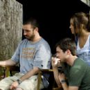 Director Joe Nussbaum with Matt Long and Amanda Bynes behind the scene of Sydney White. - 454 x 302
