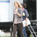 Ali Larter: on the set of 'You're Not You' in Los Angeles