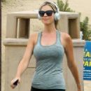 Christina Anstead – Jogging out in Newport Beach