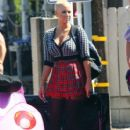 Amber Rose on the Set of 'School Dance' in Norwalk, California -  June 18, 2012