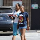 Christina Milian in Shorts – Out in Studio City - 454 x 599