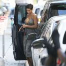 Nicole Murphy in Summer Dress – Out in Beverly Hills - 454 x 543