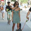 Emily Ratajkowski in Green Mini Dress – Out New York