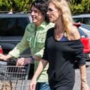 Paul Stanley and his wife Erin Sutton out grocery shopping at Bristol Farms in West Hollywood, California on March 21, 2013
