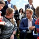 Duchess Catherine, William and Harry attend a tea party - 454 x 294